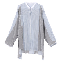 Rito  STRIPE SHIRT WITH OPEND SLEEVES