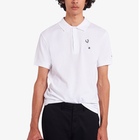 RAF SIMONS /LAUREL WREATH PIN DETAIL POLO SHIRT