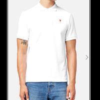 ホワイト コットン ポロシャツ Mサイズ
