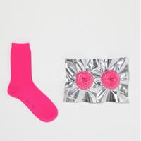safe socks pink