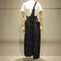 ウールタータンチェックサスペンダースカート Sサイズ