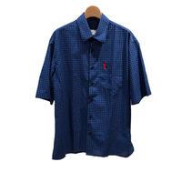 AMI Alexandre Mattiussi - Short Sleeve Shirt BL/BL