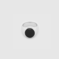 TOM WOOD  Oval Black Onyx  size/(64号)