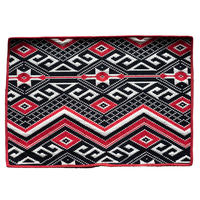 <小型> amabro Indian Entrance Mat -Red