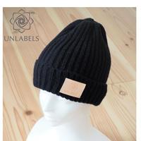 BLACK KNIT CAP (KID'S&BABY)