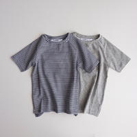 B/W stripes 0-1/2Y ラスト1点 MINGO. T-shirt BASICS
