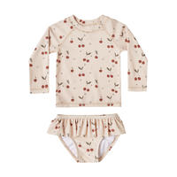Rylee + Cru cherries rashguard girl set(12-18M,18-24M)