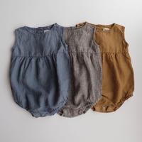 LA PETITE ALICE Linen Romper Eli(全3色/6-9m,9-12m,12-18m,18-24m)
