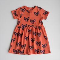 mini rodini Bow aop ss dress(92/98,104/110)