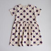 128/134ラスト1点 mini rodini Flower check aop ss dress