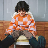 6Y ラスト1点 maed for mini Blocked Baboon sweater