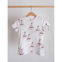 mini rodini Sailing boats aop ss tee(80/86,116/122,128/134)