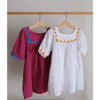 Coco Au Lait bambula embroidered baby dress(全2色/12M,18M,2Y)