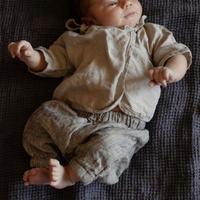 ラスト1点 LA PETITE ALICE Newborn Wrap Shirt + Harem Pants(0-3m)