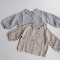 LA PETITE ALICE Linen Shirt Cecille(全2色/12-18m,18-24m,2-3y,3-4y,4-5y,5-6y,6-7y)