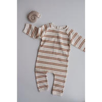 SUMMER & STORM back-snap ribbed romper(3-6M,6-12M,1Y)