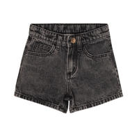 maed for mini Black bull/Denim shorts(2Y,8Y,10Y)