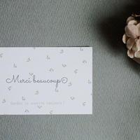 メッセージカード Merci Beaucoup フレンチフラワー