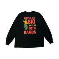 <LAKE KILLER> BOTH HANDS L/S TEE(BLACK)