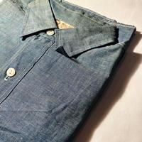 1960's BULL-DOG Chambray L/S Shirt Deadstock