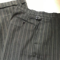1930〜40's French Unknown Cotton Stripe Trousers