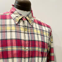 1960's h.i.s Indian Madras L/S Shirt