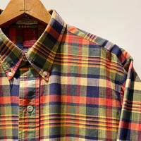 1960's〜 Sears Indian Madras L/S Shirt