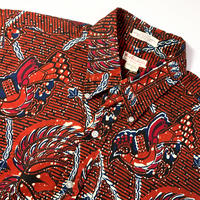 1960's Wm.F.Powers&Co. Batik S/S Shirt