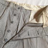 1940〜50's Unknown Seersucker Trousers Deadstock