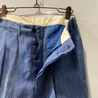 1940's〜 Unknown Cotton Trousers Deadstock