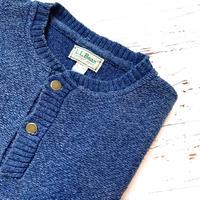 1980's L.L.Bean Indigo Cotton Sweater