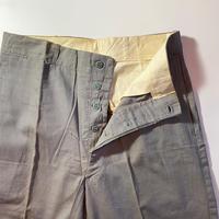 1940〜50's Unknown Gray Matt Cotton Trousers Deadstock
