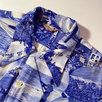 1950's DISTINCTIVE Sportswear Rayon Hawaian S/S Shirt