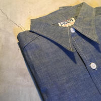 1950's〜 WHIPPET Chambray L/S Shirt Deadstock