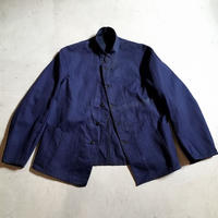 1910〜20's French Army Indigo Cotton Twill Jacket Deadstock
