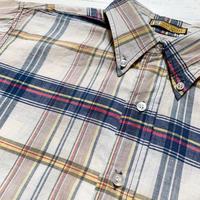 1960's DIPLOMAT Indian Madras S/S Shirt