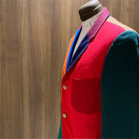 1960's Unknown Fabric&Color Sample Crazy Pattern Tailored Jacket