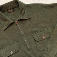 1950's L.L.Bean Wool Flannel Pullover L/S Shirt