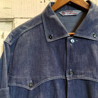 1960's Chemises Denim L/S Shirt