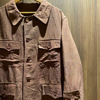 1940's French Unknown Linen Hunting Jacket