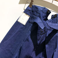 1930's〜 French Indigo Cotton&Linen Trousers Deadstock