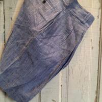 1950〜60's French Navy Linen Short Pants Deadstock
