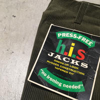 1960's h.i.s Corduroy Tapered Pants Deadstock