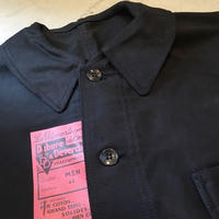 1950's Dubure&Deverchere Black Moleskin Jacket Deadstock