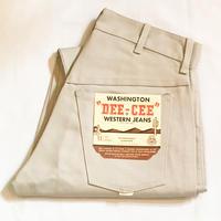 1960's WASHINGTON DEE-CEE Tapered Pants Deadstock