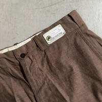 1950's OVER THE TOP Brown Chambray Trousers Deadstock