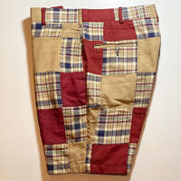 1970's Unknown Indian Madras Patchwork Short Pants