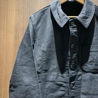 1950's French Unknown Black Moleskin Jacket