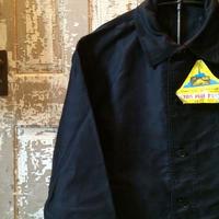1950's LE MONT StMICHEL Black Moleskin Jacket Deadstock