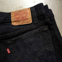 1990's Levi's 701 Black Denim Pants